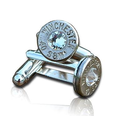 SJP Cufflinks Bullet Manschettenknöpfe (Silber) mit
