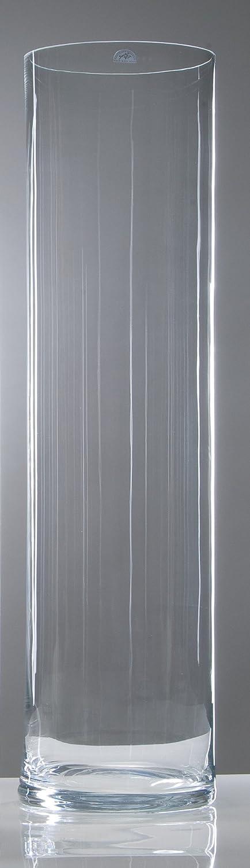 Glasvase XXL klar zylindrisch 105 cm Ø 25 cm cold cut von Sandra Rich