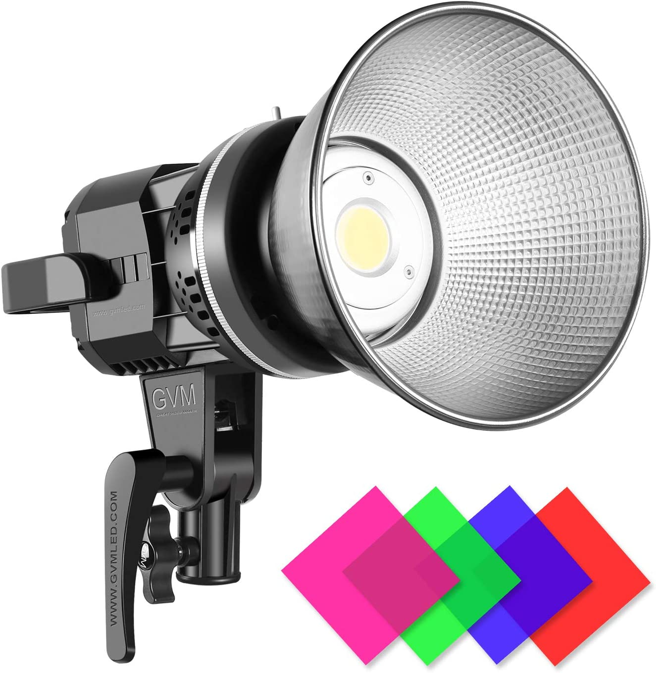 Amazon Com Gvm Great Video Maker 80w Cri97 Video Lights With Bowens Mount Color Temperature 5600k Dimmable Led Continuous Lighting Spotlight Photography Shooting Light With Reflector 80w Filter Vc P80s Camera