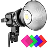 GVM 80W CRI97+ Video Lights with Bowens Mount Color Temperature 5600K Dimmable LED Continuous Lighting Spotlight Photography Shooting Light with Reflector (80W + Filter)