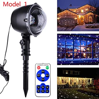 WSYYWD Proyector LED luz de nieve jardín exterior imagen paisaje ...