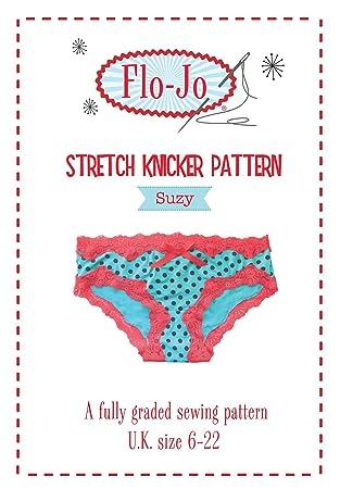 flo-jo Stretch Knicker Suzy Schnittmuster UK Größe 6–22: Amazon.de ...
