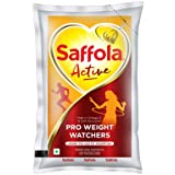 Saffola Active, Pro Weight Watchers Edible Oil, Pouch, 1 L