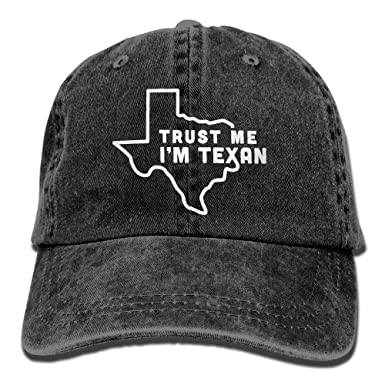 168d00d29 Trust Me I m Texan Men s Women s Cotton Yarn-Dyed Denim Sun Hat Adjustable