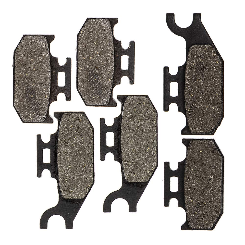 8TEN Semi-Metallic Complete Brake Pad Kit 2003-2015 Can-Am Outlander 330 400 500 650 800 800R Max 705600014 705600349