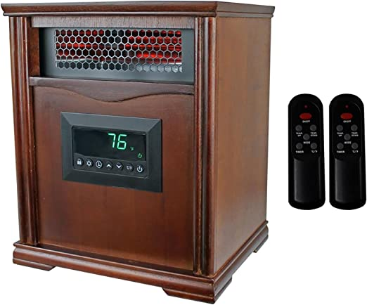 Amazon Com Infrared Quartz Electric Portable Heater Lifesmart Lifepro Ls 1001hh 1 500 Watts Keep Your Room Cozy And Save Money For This Winter Home Kitchen