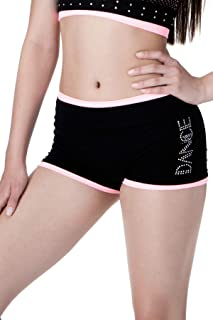 product image for Kurve Kids and Girls Dance Lightweight Rhinestone Shorts, UV Protective Fabric, Rated UPF 50+ (Made with Love in The USA)