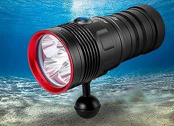 XWZJ Professional Diving Flashlight Bright Light Long ...