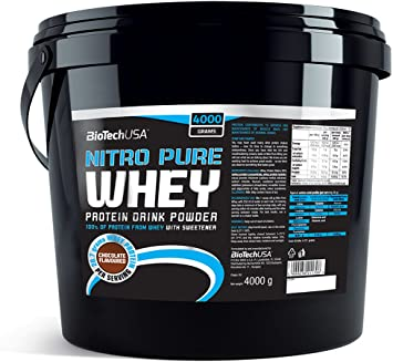 BioTech Nitro Pure Whey Proteínas Sabor Fresa - 4000 gr ...