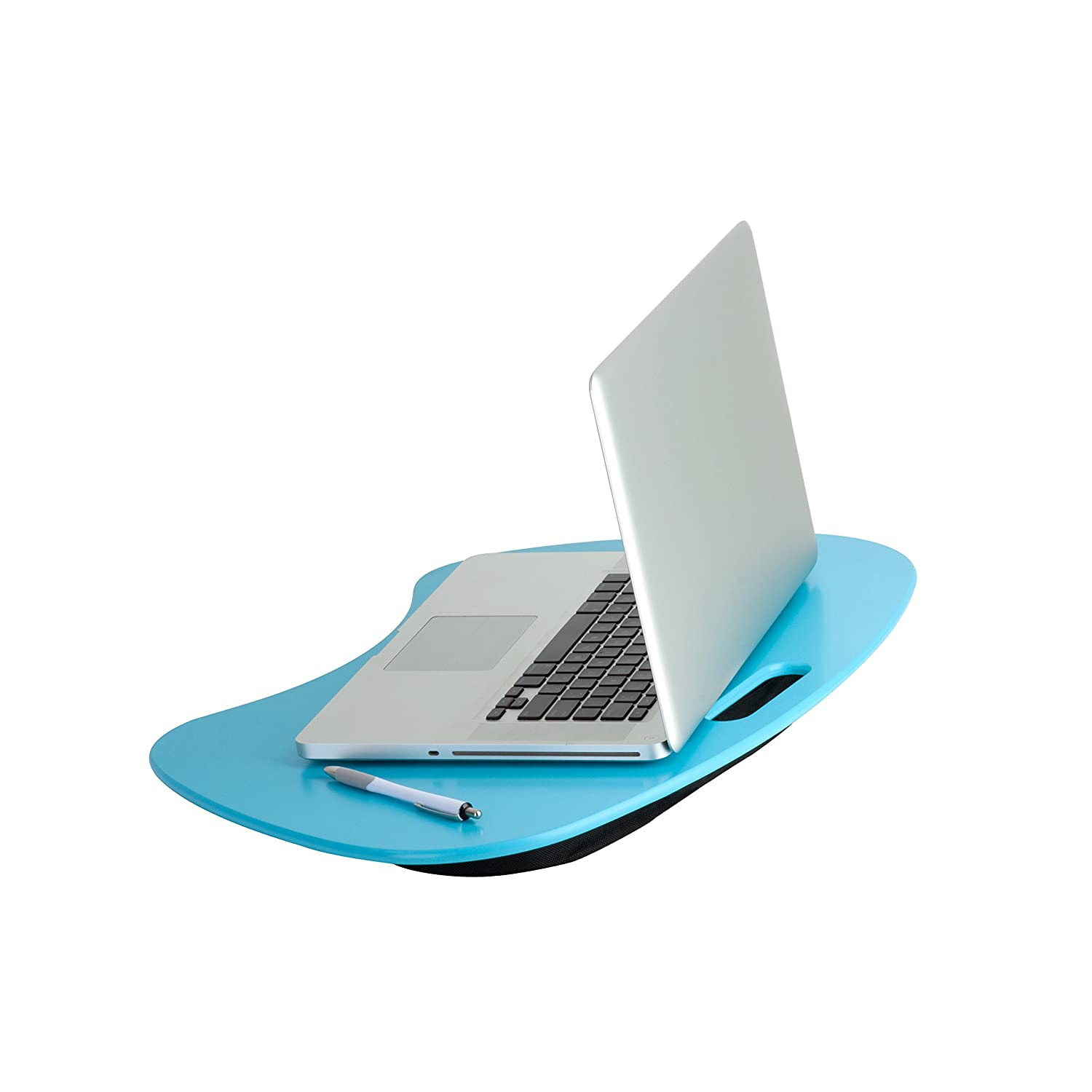 Honey-Can-Do TBL-03539 Portable Laptop Lap Desk with Handle, Blue, 23 L x 16 W x 2.5 H