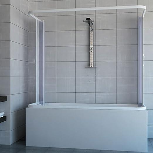RL Mampara de bañera 3 Lados 70x140x70 de PVC Mod. Nicla con ...