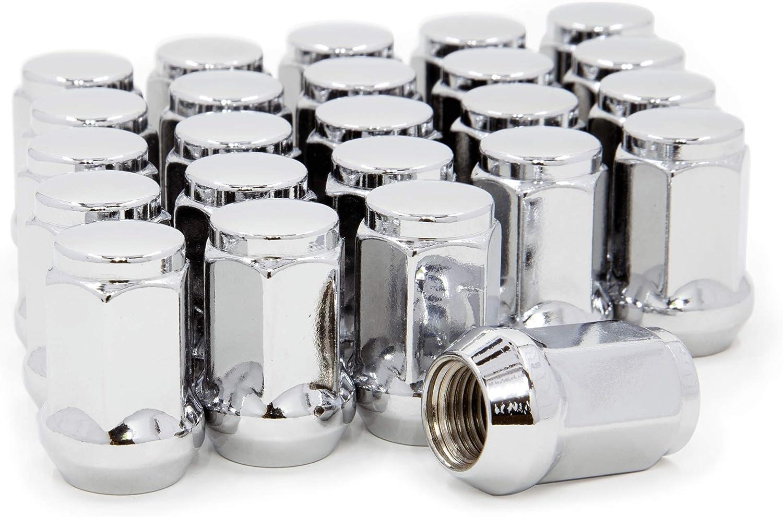 "16 Piece 12x1.5 Lug Nuts Chrome BULGE Acorn Lugs 3//4/"" Head Wheel Nuts"
