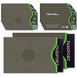 Tenn Well RFIDスリーブ スキミング防止カードケース 10枚カード 2枚パスポートスリーブ入れ (グレー)