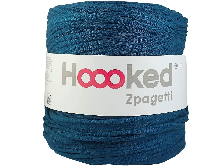 Hoooked Zpagetti Fil de Coton pour T-Shirt Vert Sarcelle 120 m 700 g
