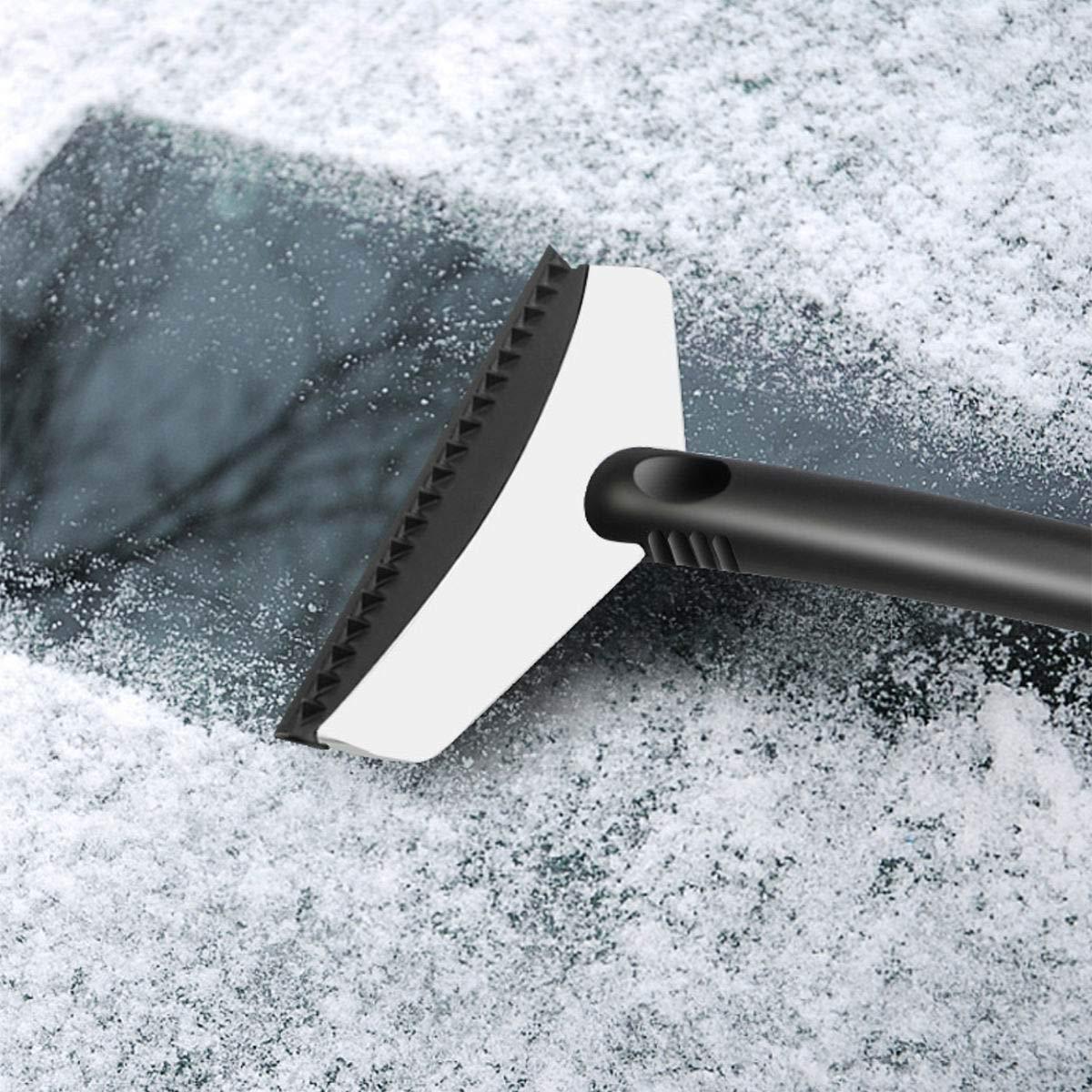 Raschietto per ghiaccio e neve di emergenza per inverno in acciaio INOX per pulizia vetro dell/'auto pulizia e rimozione della neve