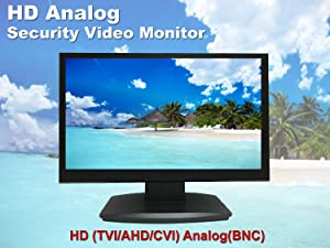 """1stPV True Full HD 1920x1080 21.5"""" CCTV LCD LED Monitor for Security Surveillance System HDMI & VGA (1920x1080) / BNC (480TVL) Inputs Great for Home Office DVR Camera Audio Video 16:9 Display"""