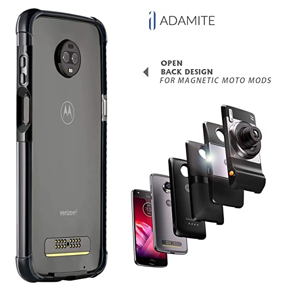 save off ebef0 6af10 Moto Z3 Case Bumper - Mod Compatible (Does not Work with Other Models Moto  Z2 Force, Moto Z, Z Force, and Z-Play 1st gen) ADEMITE