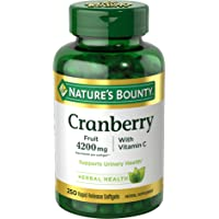 Cranberry Pills w/ Vitamin C by Nature's Bounty, Supports Urinary & Immune Health...
