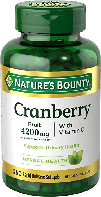Amazon Com Nature S Bounty Cranberry Pills And Vitamin C Herbal