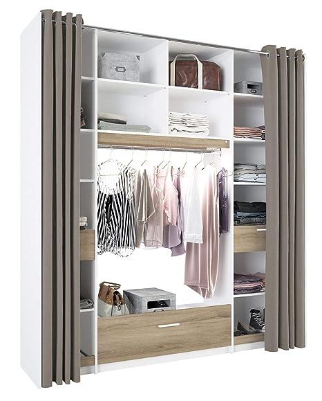 Miroytengo Armario vestidor con luz LED Dormitorio Moderno ...