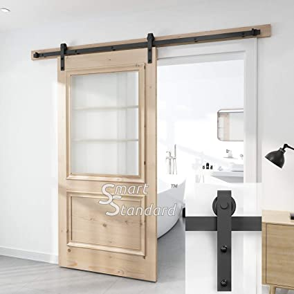 8ft Heavy Duty Sturdy Soft Close Sliding Barn Door Hardware Kit   Simple  And Easy To