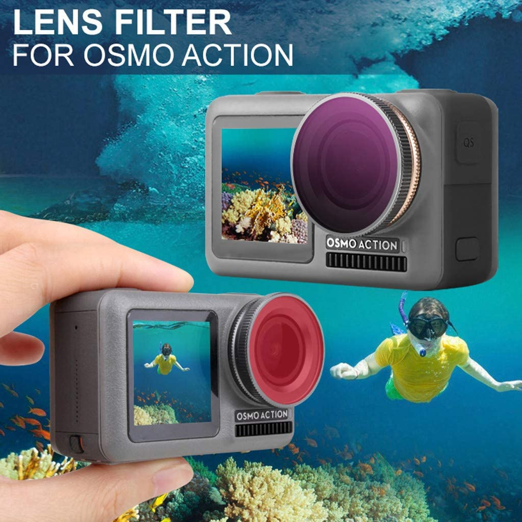 Berryhot 1PC Multi-Coated UV Protective Filter for DJI OSMO Action 4k Camera Suitable for Snorkeing Diving Camera B