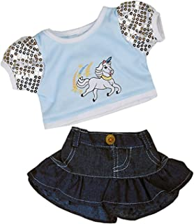 Metallic Silver /& Black Cheerleader Teddy Bear Clothes Fits Most 14-18 Build-A-Bear and Make Your Own Stuffed  Animals