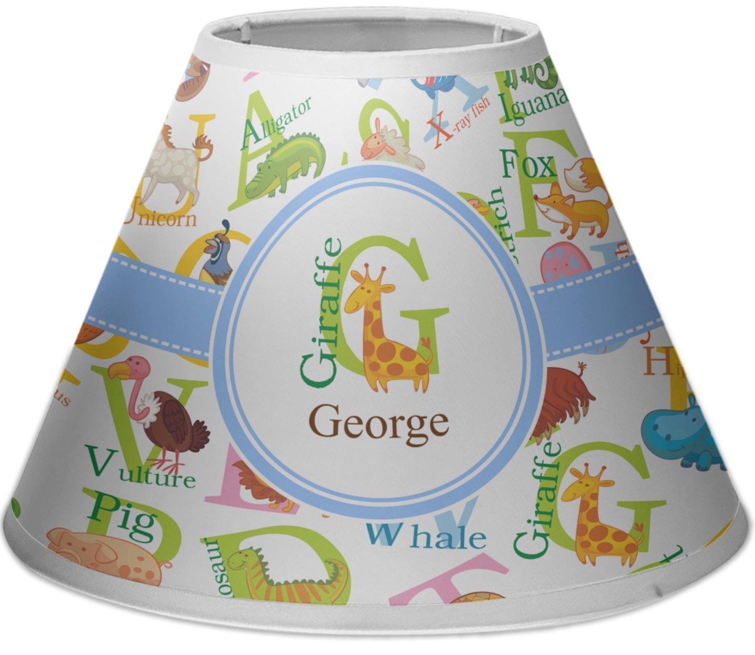 RNK Shops Animal Alphabet Empire Lamp Shade (Personalized)