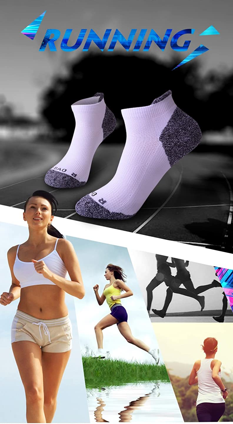 GUUMOR Running Socks for Men Women Low Cut Cotton Towel Bottom Cushion for Trail Running Hiking 3//5 Packs