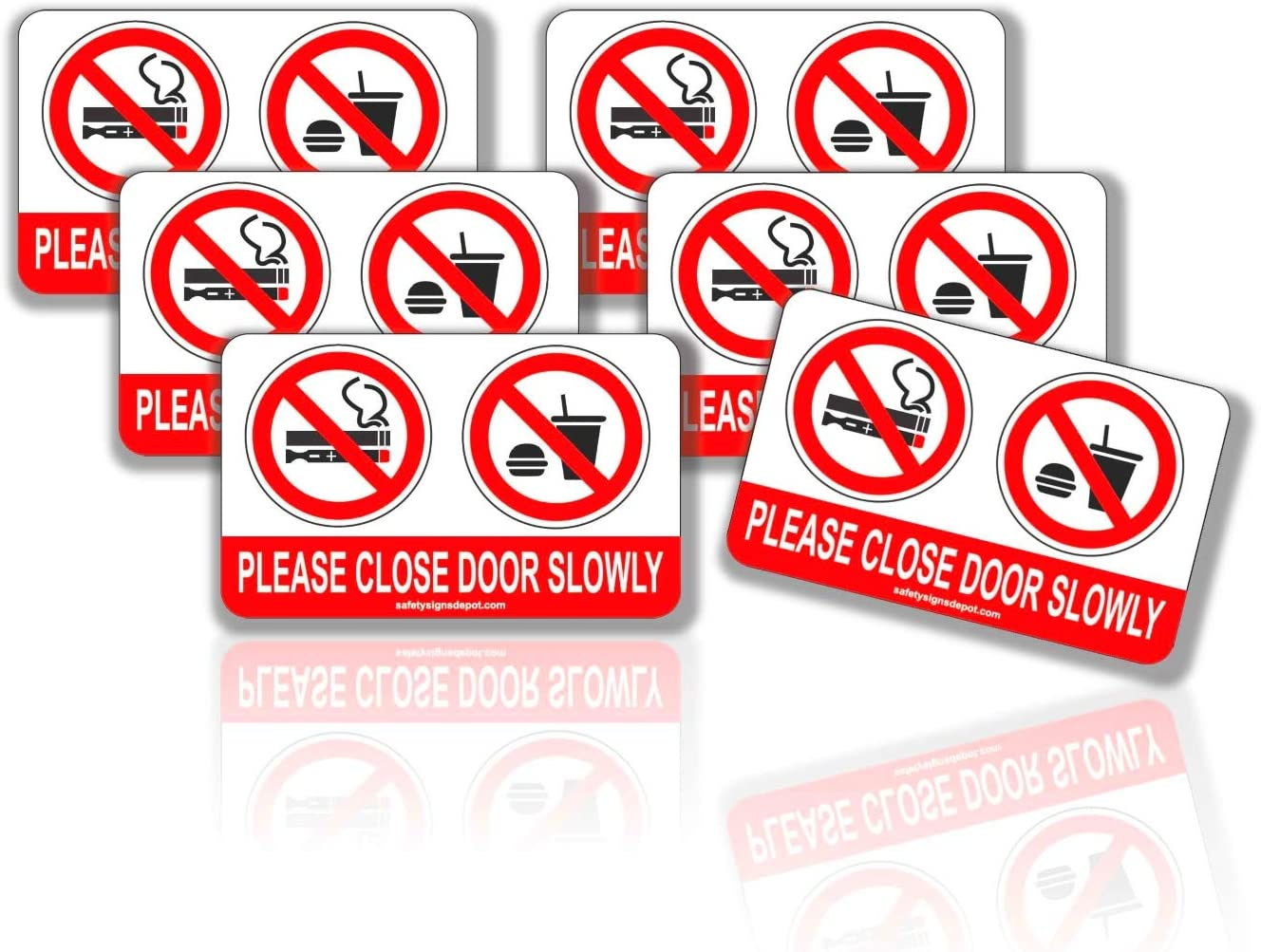 2x No Smoking Eating or Drinking In This Vehicle Stickers Car Taxi Van HGV Lorry