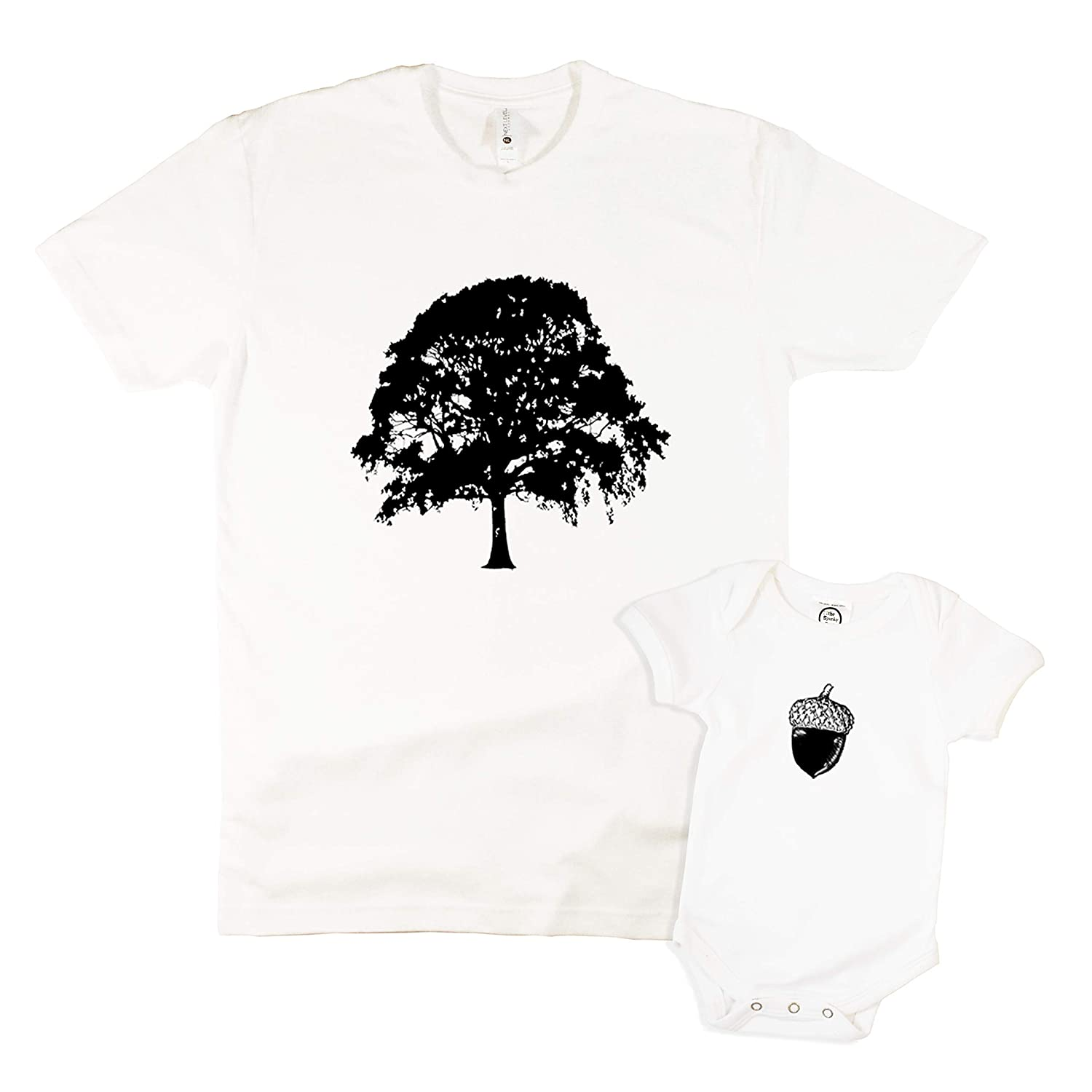 194079fa Amazon.com: The Spunky Stork Oak Tree & Acorn Daddy & Me Matching Adult  Baby Toddler Shirt (Each Sold Separately): Clothing
