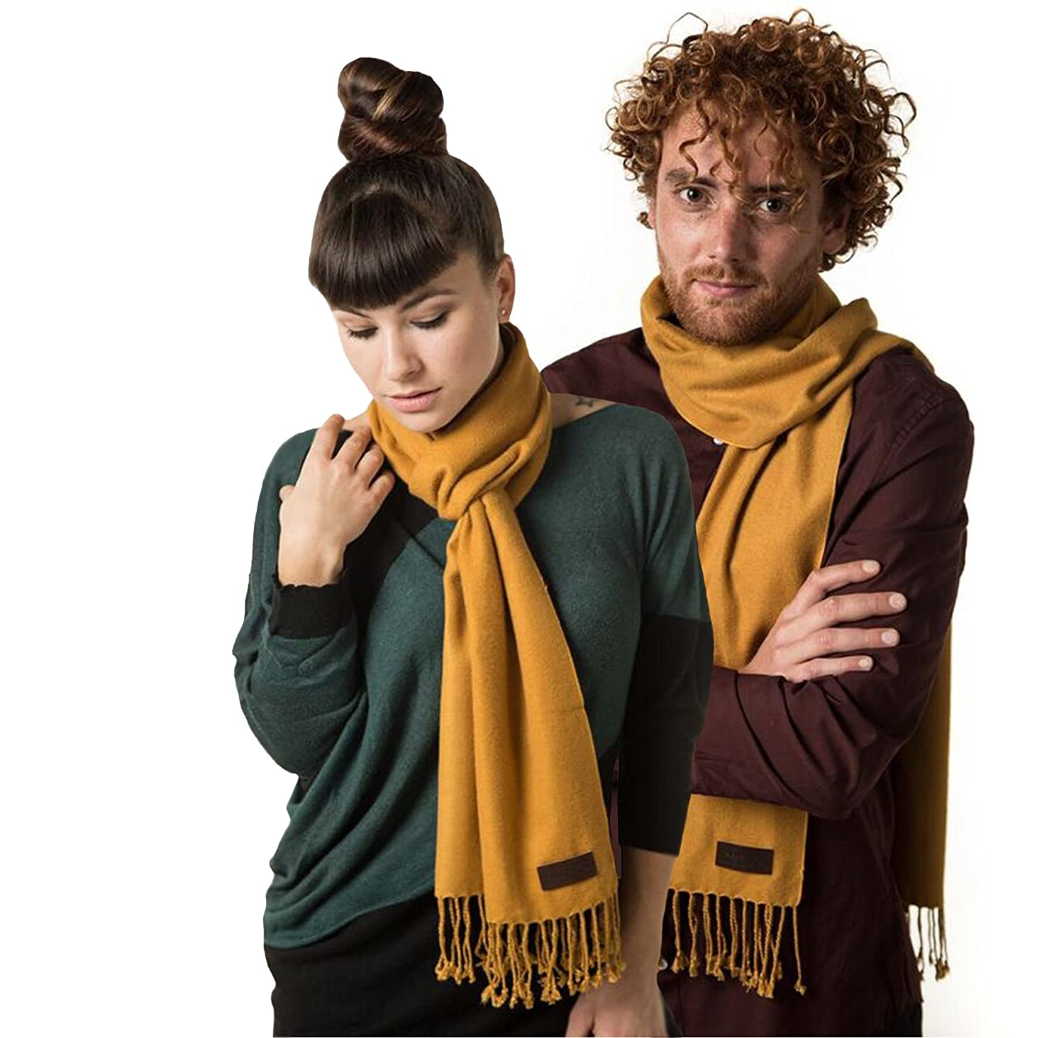Marinos Winter Cashmere Feel Unisex Men And Women Scarf 100 Shawl Ws 06 Cotton Fashion Scarves In Elegant Gift Box Camel At Amazon Mens Clothing Store