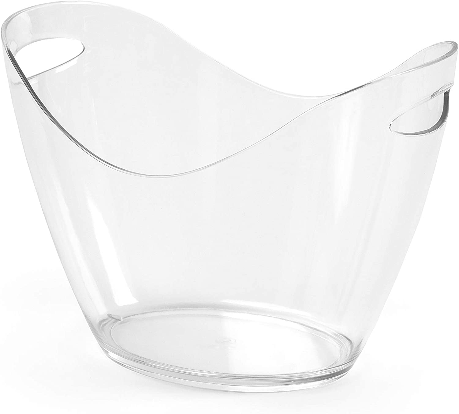 Clear Acrylic Food Grade Ice Bucket; Wine Chiller & Party Beverage Tub (4L)