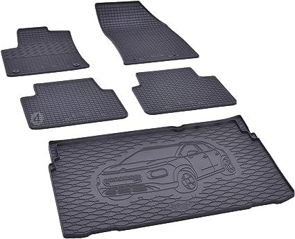 bac de coffre et tapis de sol en caoutchouc pour citroen c3 aircross a partir de 2017
