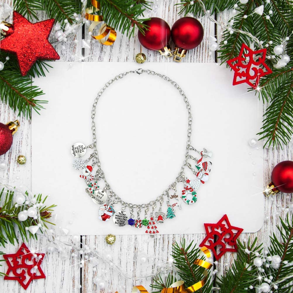 Ourine Advent Calendar 2020 Christmas Countdown Calendar Christmas Themed DIY Charm Bracelet Making Kit Jewelry Gift Set for Girls Women