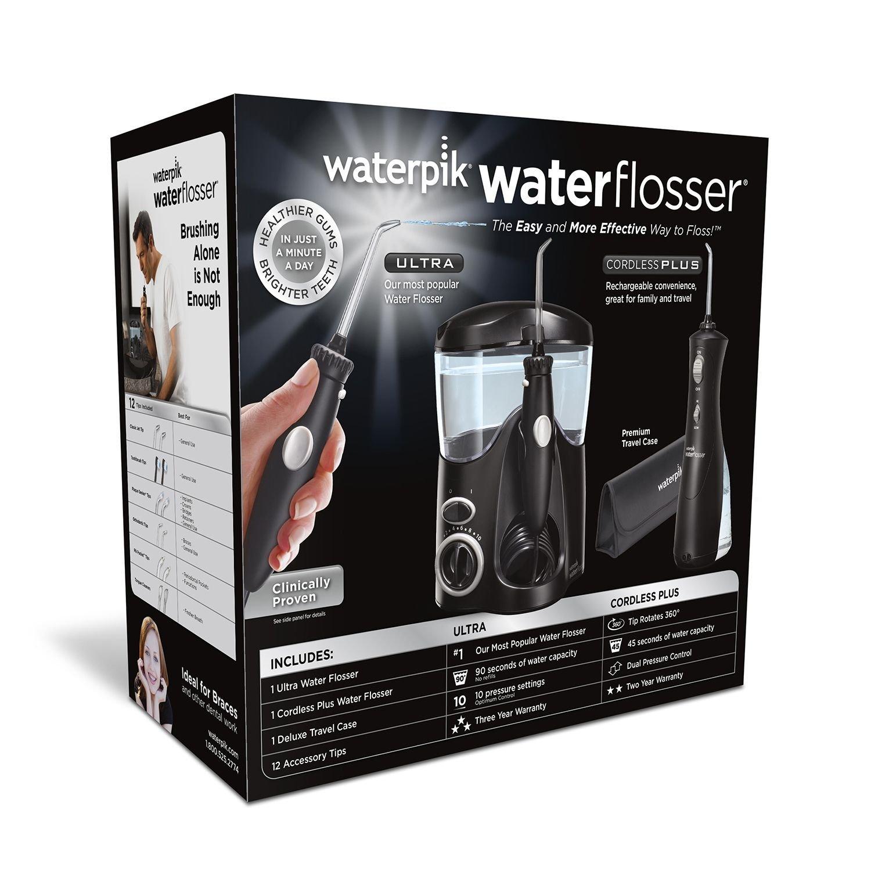 Waterpik Ultra Water Flosser Combo, Black