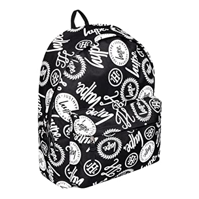 5ae50724284b Hype Black   White All Over Hype Logo Backpack Bag - Brand Aop   Amazon.co.uk  Shoes   Bags