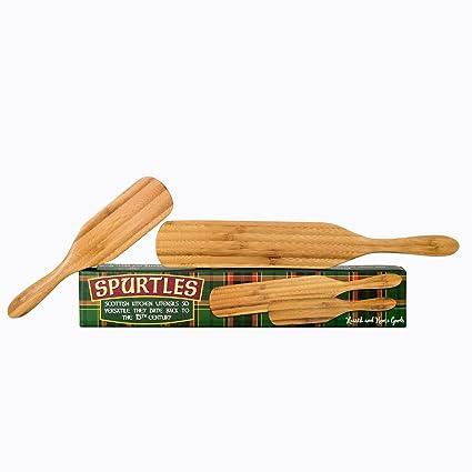 Spurtle Cooking Utensils | 2 Piece Kitchen Tools Set | Heat Resistant,  Wooden Bamboo Spatula