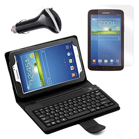 Bluetooth teclado Funda tipo libro con protector de pantalla ...