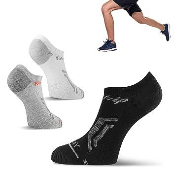 Fazitrip Calcetines unisex, mujeres y hombres corte bajo calcetines (3 pares), transpirable