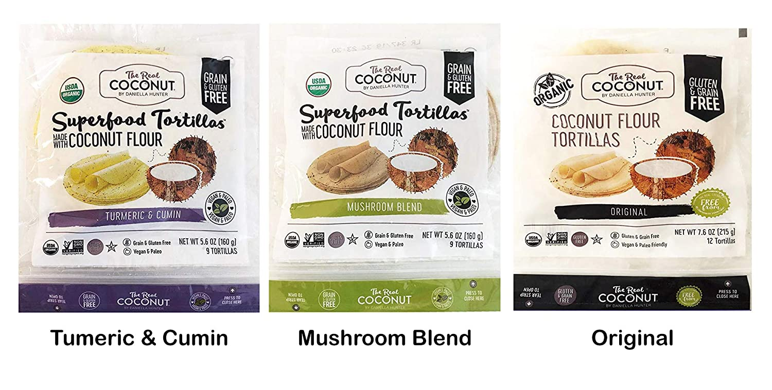 The Real Coconut Chips & Plantain Flour Cookies Variety Pack (Tortilla Set)