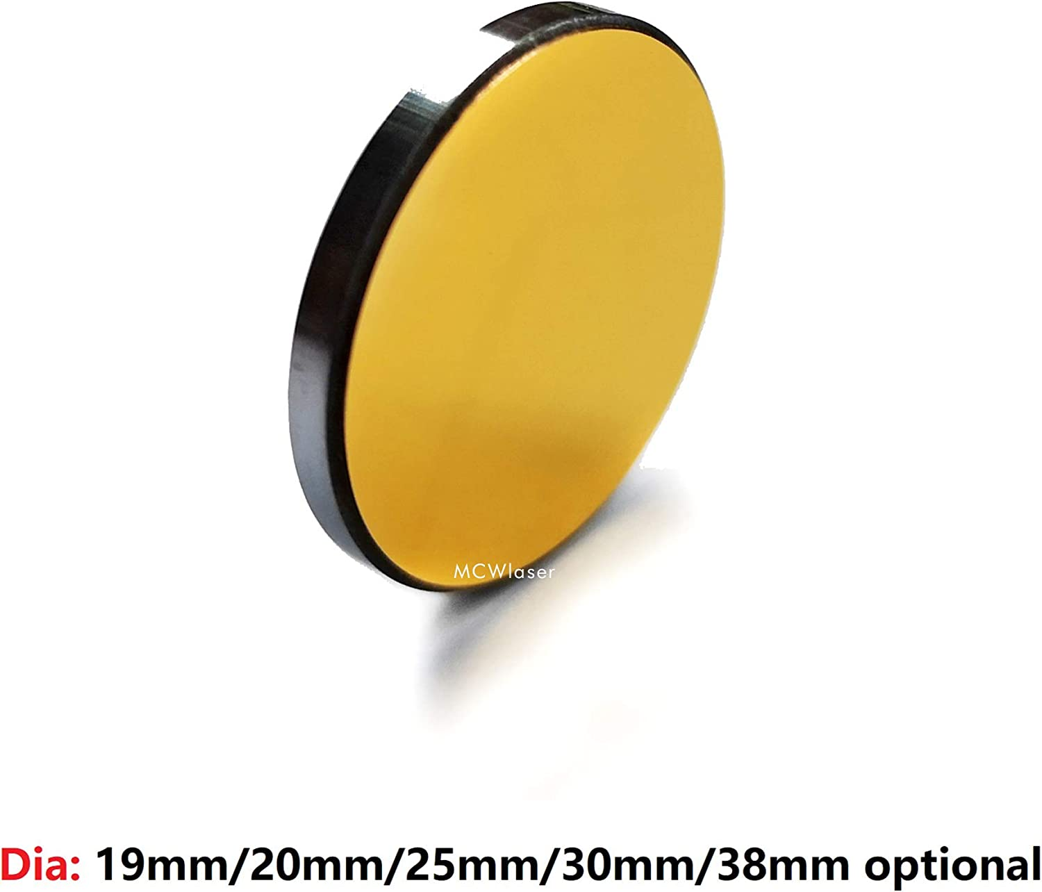 MCWlaser 3PCS Si Mirror Coated Gold Dia:25mm for CO2 Laser Engraving Cutting 40W-150W