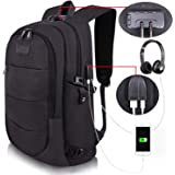 Travel Laptop Backpack Water Resistant Anti-Theft Bag with USB Charging Port and Lock 14/15.6 Inch Computer Business…