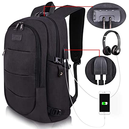 29bbbadc60d8 College Laptop Backpack Water Resistant Anti-Theft Bag with USB Charging  Port and Lock 14/15.6 Inch Computer Business Backpacks for Women Men School  ...