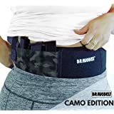 BRAVOBELT Belly Band Holster for Concealed Carry - Athletic Flex FIT for Running, Jogging, Hiking - Glock 17-43 Ruger S&W M&P 40 Shield | for Men & Women