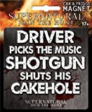 Ata-Boy Supernatural Die-Cut Cakehole Magnet for Cars, Refrigerators and Lockers