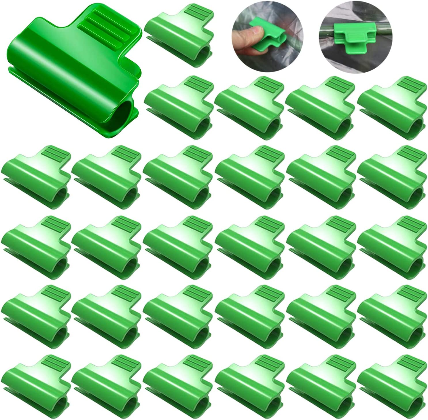 30 Pieces Greenhouse Clamps Film Row Cover Netting Tunnel Hoop Clip Frame Shading Net Rod Clip Greenhouse Film Clamps for Season Plant Extension Support, 11 mm/ 0.43 Inch