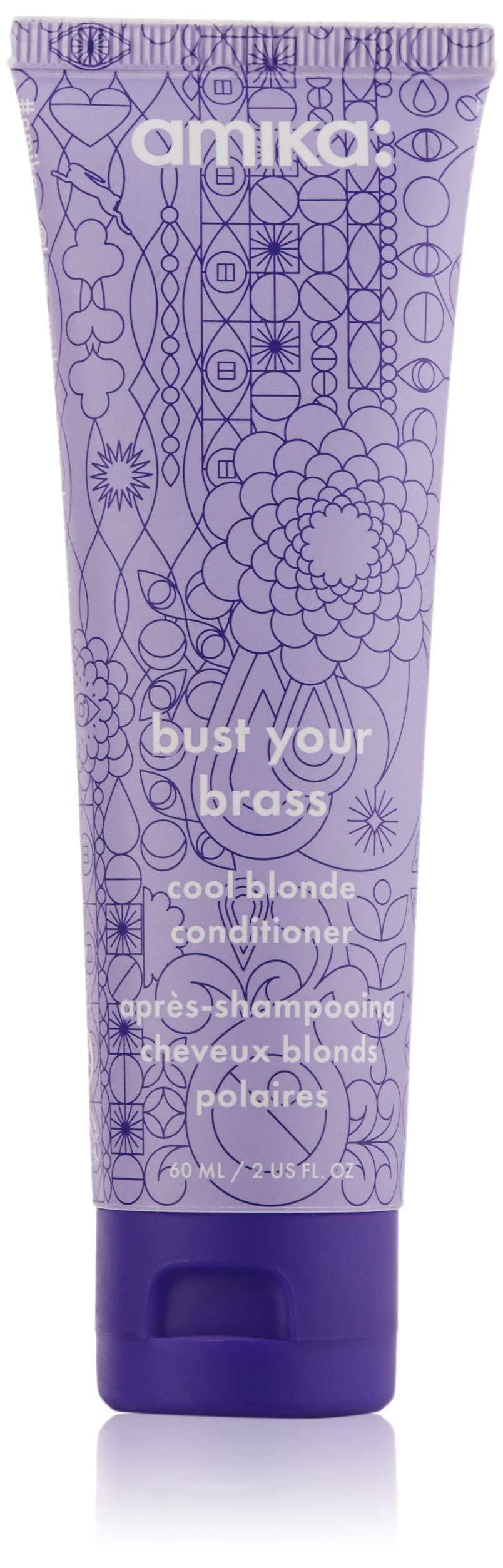 Amazon.com: amika Bust Your Brass Cool Blonde Shampoo, 10