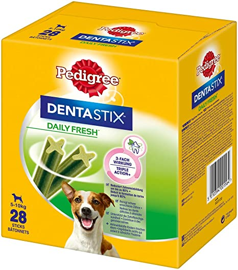 Pedigree Hundesnacks Hundeleckerli Dentastix Fresh für frischen Atem Mini Tägliche Zahnpflege für kleine Hunde <10kg