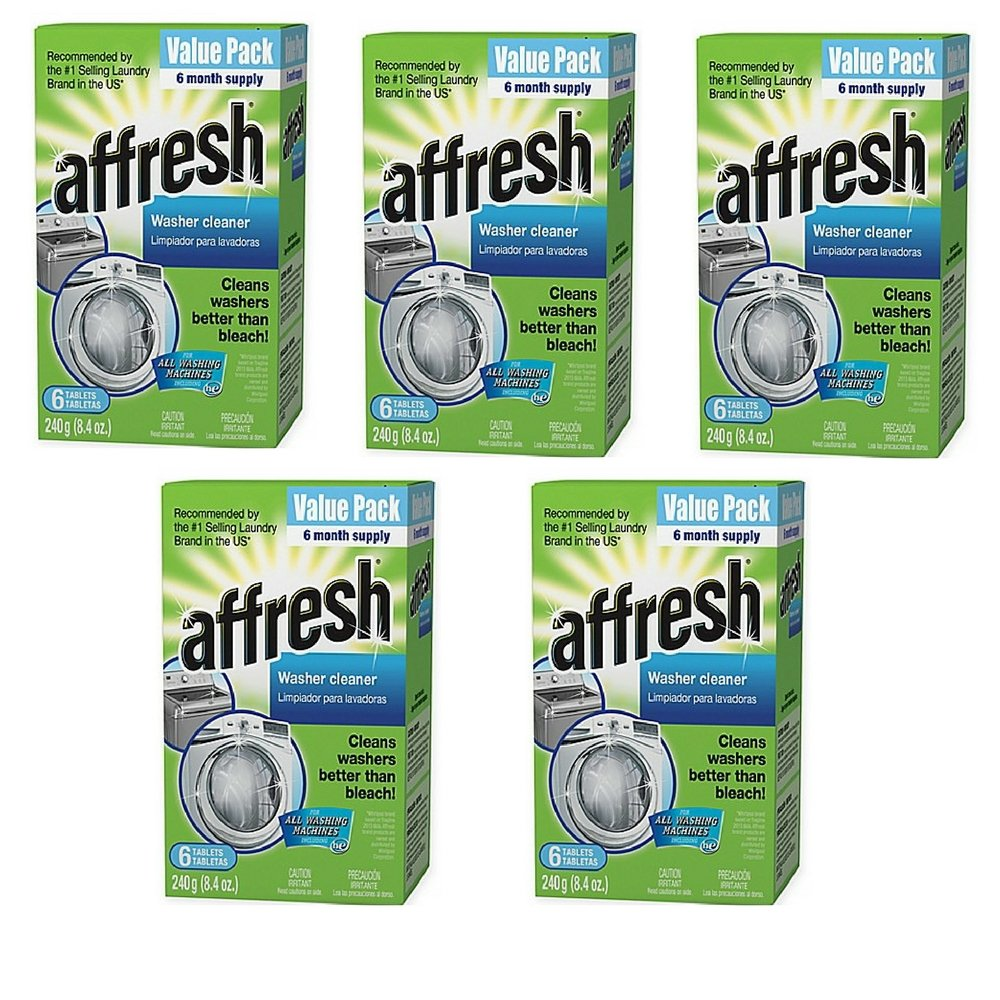 Affresh Value 6-Pack Washer Cleaner Tablets, Stays Clean and Functioning (1) (5 pack)